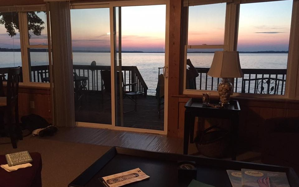 Guests' Photo of Sunset from Inside the Cottage